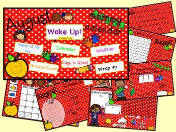 Morning Calendar- August