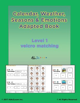 Morning Calendar:  Days of Week, Months, Seasons and More :  Adapted Book: