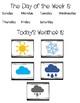 Morning Calendar Folder Activity