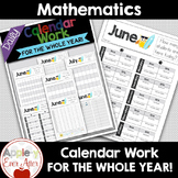 Back to School Morning Calendar Work - For All Year Long!