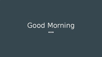 Morning Calendar & Review (Time and Money)