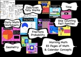 Calendar Math for the Entire Year - SMARTBoard 83 Page Common Core Aligned
