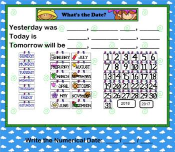 Smartboard Calendar Math Activities April