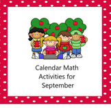 Smartboard Calendar Math Activities September