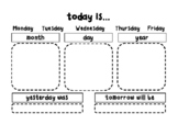 Morning Calendar Student Sheet