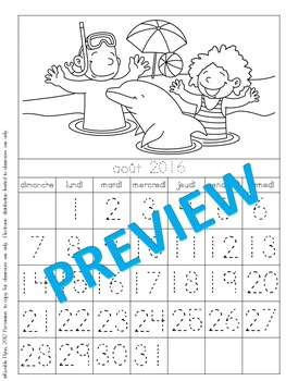 Morning Calendar Work for French Immersion