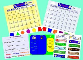 Morning Calendar for the Smartboard