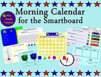 Morning Calendar for the Smartboard