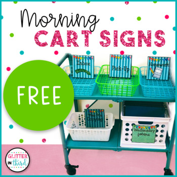 Morning Cart Signs & Labels