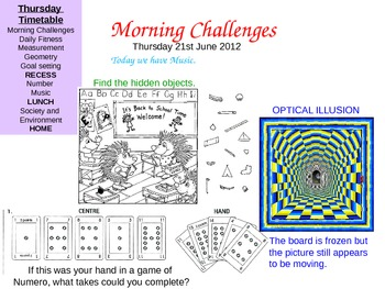 Morning Challenges