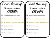 "Morning ""Champ"" Checklist"