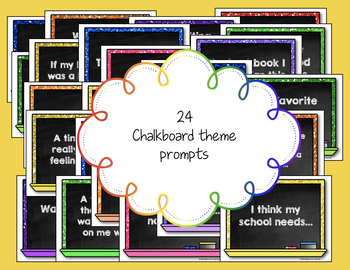 Morning Chat May Prompts: Whiteboard and Chalkboard Themed