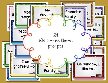 Morning Chat November Prompts: Whiteboard and Chalkboard Themed