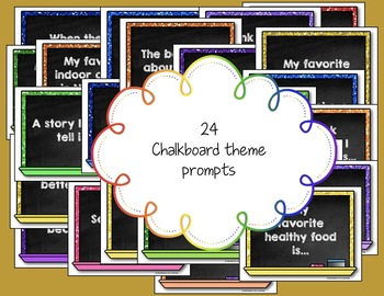 Morning Chat November Prompts Digital Version:Whiteboard and Chalkboard Themed