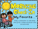 """Morning Check-In/Meeting Writing Prompts """"My Favorite..."""""""