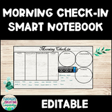 Morning Check-in SmartNotebook (Lunch & Milk Count) *Editable*