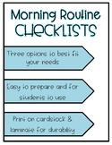 Morning Checklist