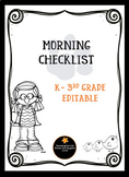 Morning Checklist Editable