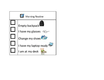Morning Checklist Routine