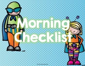 Morning Checklist (Superhero Edition)