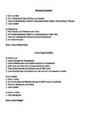 Morning Checklist (middle/high school)