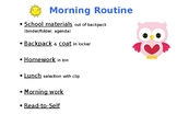 Morning Checklist, poster and desk-sized