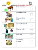 Morning Checklist with Pictures
