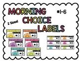 Morning Choice Bin Labels