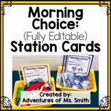 Morning Choice Direction Cards - FULLY EDITABLE via Google