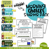 Morning Choices Starter Pack - Alternative to Morning Work!
