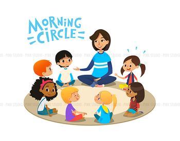 Morning Circle 01 - Illustrated Clipart Graphic