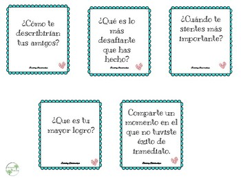 Morning Circle Prompts in Spanish (Building Relationships)