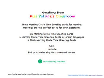 Morning Circle Time Greetings