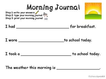Morning Daily Writing Journal