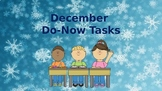 Morning Do Nows for December (Editable)