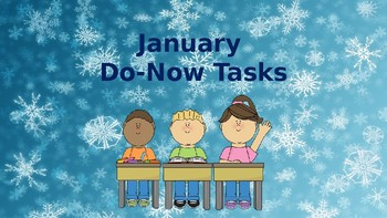 Morning Do Nows for January (Editable)