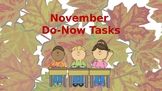 Morning Do Nows for November (Editable)