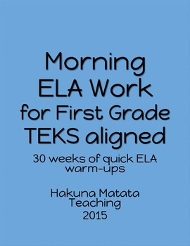 Morning ELA Practice First Grade TEKS aligned