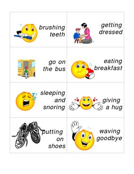 Morning Events - Sequencing (Primary level with pics)