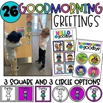 Editable Morning Greeting Signs • Morning Greeting Choices • Digital & Printable