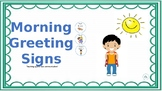 Morning Greeting Activity- Teaching appropriate communication