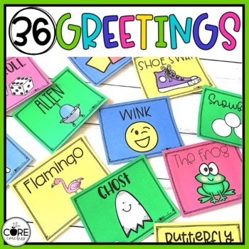 Morning Meeting Greeting Cards- Editable