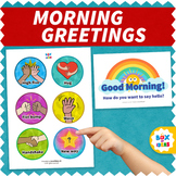 Morning Meeting Greeting Choices for Back to School w/Soci