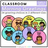 Morning Greeting Choices | English & Spanish