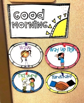 Morning Greetings Choices with No Touch Options DIGITAL & PRINTABLE