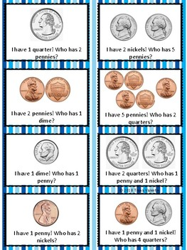 Morning Greeting Coin Recognition Task Cards