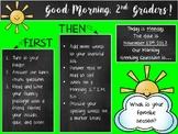 Morning Greeting Editable Powerpoint (Sunshine & Chalkboards)