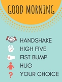 Morning Greeting Poster