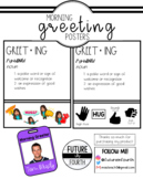 Morning Greeting Poster and Badges- Editable