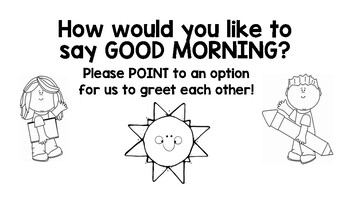 Morning Greeting Selection Posters
